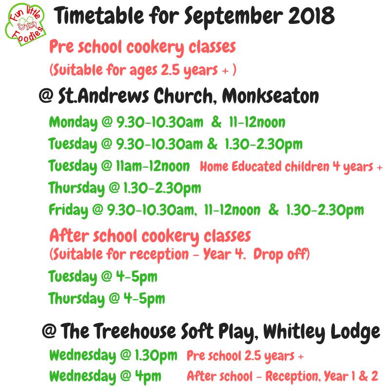 Timetable for September 2018 (4)
